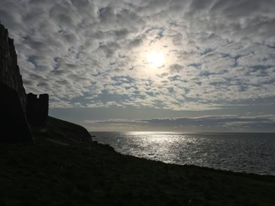 Afternoon sun at Peel Castle