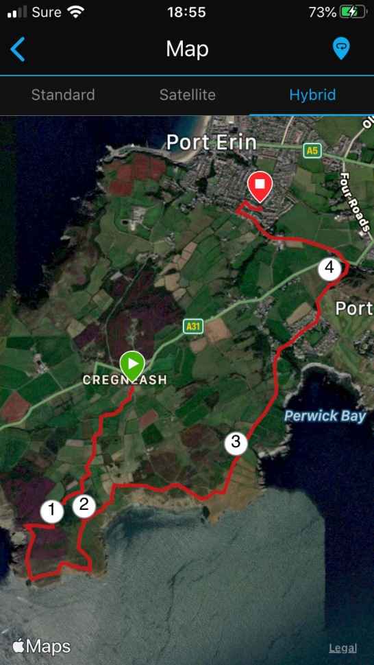 Cregneash to Port Erin
